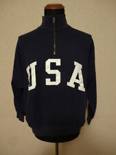 Polo Ralph Lauren Felpa Blu - L - Flag Sweater Olympics USA - 1/4 Zip