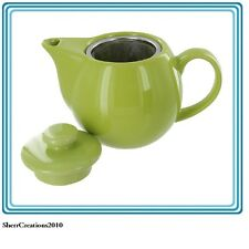 NIB OmniWare Teaz 14-oz Ceramic Teapot with a Stainless Steel Infuser #371