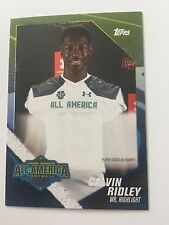 Calvin Ridley Topps Under Armour All America American Football Card Player Issue