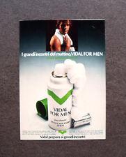 [GCG] M686 - Advertising Pubblicità - 1972 - VIDAL VIVACE SCHIUMA DA BARBA