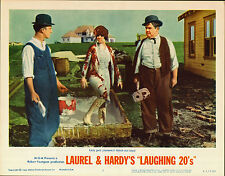 LAUREL AND HARDY original MGM lobby card LAUGHING 20's 11x14 movie poster