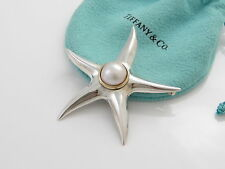 Tiffany & Co RARE Silver 18K Gold Mabe Pearl Starfish Star Fish Brooch Pin!