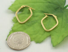 Sassi SIL1402Y Ladies 375 9ct Yellow Gold Creole Hoop Wedding Band Earrings