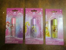 Three Disney Princess Lip Glosses - Ariel, Rapunzel, Belle - New in Packages
