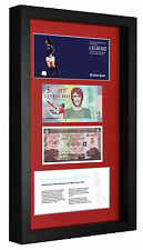 3D BOX FRAME GEORGE BEST LIMITED EDITION LEGAL TENDER £5 POUND NOTE WITH COA