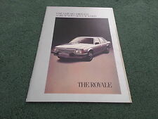 October 1978 / 1979 VAUXHALL ROYALE SALOON / COUPE - UK BROCHURE - NM