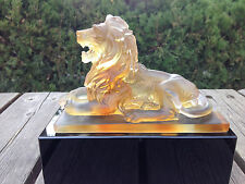 Lion BookEnd Paperweight Art Glass Crystal Figurine Sculpture Statue Home Decor