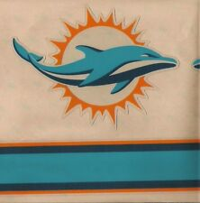 MIAMI DOLPHINS FULL SIZE FOOTBALL HELMET DECAL W/STRIPE & BUMPERS
