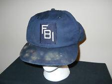 VTG-1970s RARE FBI Federal Bureau of Investigation Special Agent hat sku9