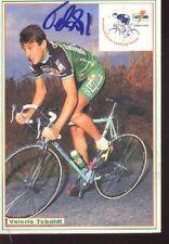 VALERIO TEBALDI cyclisme ciclismo cp signée GATORADE 92