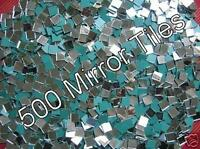 500 Pack. 2 x 2cm   3mm Thick. Glass Silver Mosaic Mirror Tiles