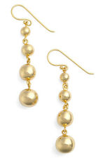 ARGENTO VIVO 18K Gold Plated Ball Drop  Linear Earrings NWT $89