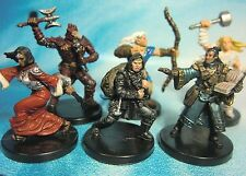 Dungeons & Dragons Miniatures Lot  Balanced Epic Character Party !!  s101