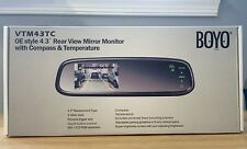 "BOYO VTM43TC 4.3"" OE Style Rear View Mirror Monitor With Compass & Temperature"