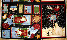 Debbie Mumm Artic Holiday North Pole Christmas Stockings Socks Fabric Panel 23""