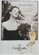 """""""CHAMPS-ELYSEES de GUERLAIN / Sophie MARCEAU"""" Affiche originale 120x160cm"""