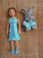 Polly Pocket Doll Fashion Pets Matching Bunny Outfit Blue Turquoise 9-6