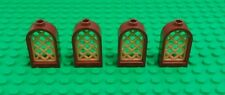 *NEW* Lego 1x2x2 Brown Gold Grill Arch Windows Bricks Castles Buildings 4 pieces