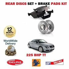 FOR AUDI TT QUATTRO 1.8 225BHP 1996-2006 VENTED REAR BRAKE DISCS AND PADS SET
