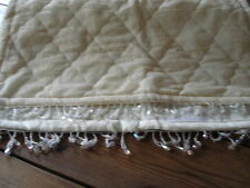 Vintage Lace, French Cream, Hand Made, Quilted, Bed Runner, Throw, Comforter