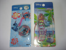 Disney Japan Lilo & Stitch Cell Phone Strap Cleaner Dangle Mascot Lot Of 2 PVC