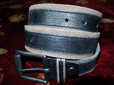 $65 Joe's Jeans Black Genuine Leather Belt Size 30 Authentic Brown