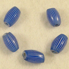 5 Old Blue Glass Venetian ONIONSKIN African Trade Beads