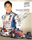 2015 TAKUMA SATO signed INDIANAPOLIS 500 PHOTO CARD POSTCARD INDY CAR AJ FOYT wC