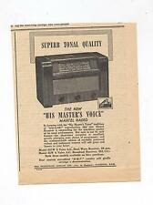 HMV Mantel Radio Advertisement removed from a 1947 Australian Newspaper