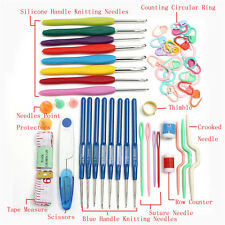 16 sizes Crochet hooks Needles Stitches knitting Craft Case crochet set W/ Case