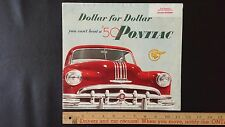 "1950 PONTIAC - ""You Can't Beat a '50"" - Color Dealer Sales Folder Brochure (US)"