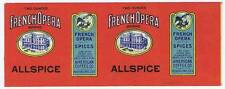 French Opera, Allspice, can label, American Coffee Co., New Orleans