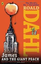 James and the Giant Peach by Roald Dahl, (Paperback), Puffin Books , New, Free S