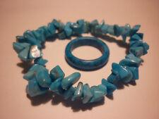cristalloterapia BRACCIALE HOWILITE TURCHESE + ANELLO braccialetto cristallo