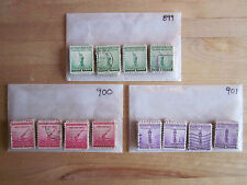 Full Set National Defense Series # 899 - 901 x 100 Used US Stamps of Each