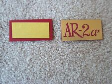 ACOUSTIC RESEARCH AR-2ax  NEW REPLICA LOGO PLATES - PAIR