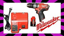 "Milwaukee M12 FUEL 1/2"" Hammer Drill/Driver 2404-20 w/charger And Battery"
