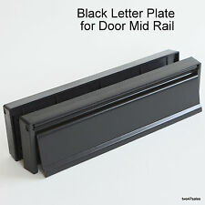 "12"" BLACK Letter Plate Stainless Steel Door box upvc silver handle front pvc MID"