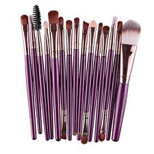 Pro 15Pcs Make up Eye Shadow Brushes Set Tool Eyebrow Eyeliner Powder Lip Brush