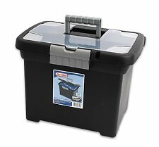 STERILITE Portable File Box Cabinet Office Organizer New