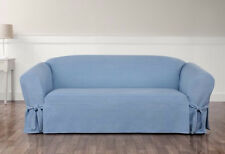 Authentic Denim light blue One Piece Sofa Slipcover by sure fit Slip cover