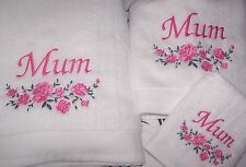 """BEAUTIFULLY EMBROIDERED MUM TOWEL BAIL"" IDEAL MOTHERS DAY GIFT"