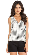 "NWT! $268 MARC JACOBS ""BLACK BLOCK"" BUFF SILK TOP L 10/12"