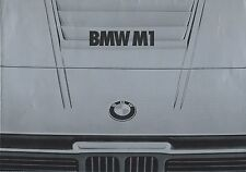 BMW M1 German Market Brochure January Circa 1980 8 Page Fold Out Good Condition