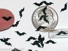 15pc. Super tiny Magical Halloween Black Bats Wings Miniature for glass bottle