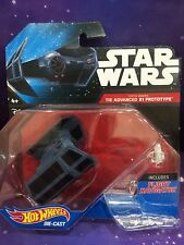 STAR WARS - HOT WHEELS DIE CAST DARTH VADER'S TIE ADVANCE X1 PROTOTYPE
