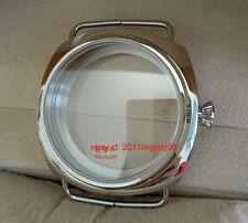 45MM polishing 316 stainless steel sapphire watch case Apply to ETA 6497 6498