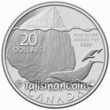Canada 2013 $20 Commemorative Iceberg + Endangered Humpback Whales Pure Silver