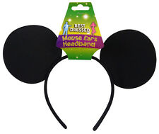 Black Mouse Ears on Head Band Ideal for Becoming Mickey Mouse