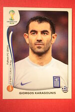 Panini BRASIL 2014 N. 213 KARAGOUNIS HELLAS WITH BLACK BACK TOPMINT!!